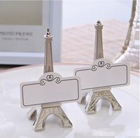 Wholesale wedding reception gifts resale online - New Arrival Eiffel Tower Place Card Photo Design Holders Holder Wedding Reception Party Favor Gift