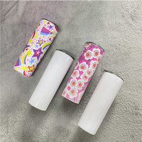 DIY Blank 20oz Sublimation Skinny Tumbler Double Wall Stainless Steel Vacuum Insulated Water Mugs For Travel