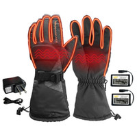 Electric Heated Gloves With3600mAh Rechargeable Battery Powered Heat Gloves Waterproof Winter Thermal Warm For Outdoors