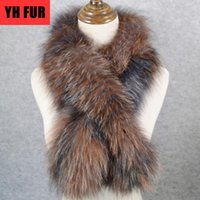 Wholesale real fur wraps scarves for sale - Group buy 2020 New Style Luxurious Quality Women Real Fur Scarf Warm Soft Knitted Real Fur Shawl Wrap Natural Ring Scarves
