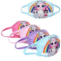 Wholesale children surprise for sale - Group buy Cotton Allergy Rainbow Anti Muffle Masks Mouth Pollution Mas Doll Washable Reusable Cartoon Respirator Kids Dust Surprise Child M Anime Epsu