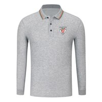 camisas atléticas da luva longa venda por atacado-Athletic Club Queda New algodão manga comprida Camisa confortável Golf POLO manga comprida Moda Lapel manga comprida POLO Football Sports