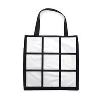 Wholesale Sublimation Grid handbag Tote Bag Blank White DIY heat transfer shopping bag panels Cloth reusable Storage gift bag handbag FFA4521