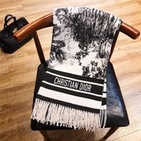 Wholesale warm blankets for women for sale - Group buy Designer Winter Cashmere Scarf Pashmina for Women and Men Fashion Double Wear Warm Blanket Scarfs Scarves Cashmere Cotton Scarf