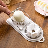 Wholesale multifunction gadgets for sale - Group buy Creative Egg Slicer Cooking Tools in1 Cut Multifunction Kitchen Egg Slicer Sectione Cutter Mold Flower Edges Gadgets Home Tool FWF2726
