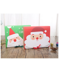 Wholesale pink christmas stockings resale online - Christmas Eve Big Gift Box Santa Fairy Design Papercard Kraft Present Party Favour Activity Box Red Green EWF2254