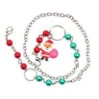 Wholesale Santa Claus Face Mask Lanyard Kids Cartoon Masks Holder Christmas Mask Holder Necklace Strap Eyeglass Chains Anti Lost Masks X699FZ