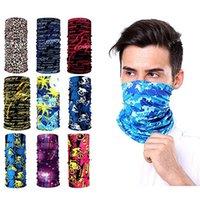 Wholesale training masks for sale - Group buy 9 parts breathing bicycle motorcycle mask magic scarf outdoor hat BANDANA sports tube UV mask hiking training