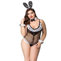 Wholesale accessories saws for sale - Group buy Jsy Plus Size Hot style Costumes Fishnet See Through Bunny Uniform Outfit Female Lingerie Set with All Accessories P71103