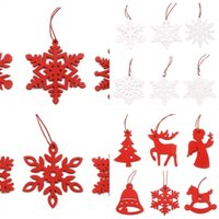 Wholesale bell ornament craft for sale - Group buy dIeA2 accessoriestree decoration christmas snowflake Christmas Bell accessories bag ornaments Trojan horse bell wooden crafts hang out D