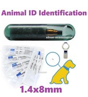 100sets Non-medical ID Transponder Syringe rfid injector 1.4X8mm FDX-b Microchip for animal identification ISO 11784 For Pet access control