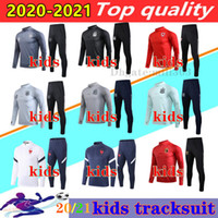 Wholesale 20 Spain kids National Team Soccer tracksuit chandal Survetement France Argentina Belgium Wales boys football tracksuit Jogging