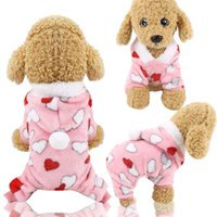 Wholesale sweatshirts for dogs resale online - Pet Clothes for Dog Cat Puppy Hoodies Coat Winter Sweatshirt Warm Sweater Dog Outfits XS S M L XL XXL CCE2155