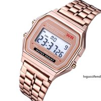 Wholesale best electronics watch for sale - Group buy Best Sell Sport LED Watch Luxury Rose Gold Women Watches Stainless Steel Mens Watch Thin Electronic Wristwatches Clock