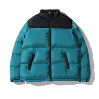 Mens down Parka outwear Jacket Embroidery couple Street Warm Simple winter fashion outdoor cotton padded coat
