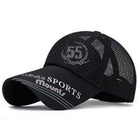 Wholesale korean snapback hat resale online - Korean Extended Eaves Breathable Baseball Caps Spring Summer Brand Snapback Cotton Hats For Women Men Adult Net CapX1016