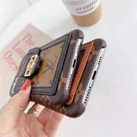 Wholesale pocket phones resale online - New Fashion Designer Phone Case for iphone pro max XS XR Xsmax High grade Leather Card Pocket Phone Cover for iphone pro max