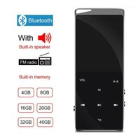 16gb mp3 player 2021 - MP3 MP4 Player with Bluetooth Speaker Touch key Built-in 8GB 16GB HiFi Metal Mini Portable Walkman with radio FM Radio recording1