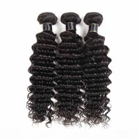 Wholesale 8A Malaysian Virgin Hair Deep Wave Bundles Water Wave Hair Wefts a Grade Virgin Unprocessed Human Hair Extensions