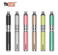 Wholesale 100 Original Yocan Evolve Kit Wax Vaporizer Vape Pen Kits E Cigarette Kit With Quartz Dual Coil QDC mAh Dab Pen Kits