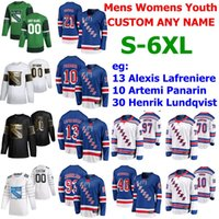 Wholesale hockey 5xl resale online - S XL Golden Edition New York Rangers Hockey Jersey Alexis Lafreniere Artemi Panarin Henrik Lundqvist Mika Zibanejad Kaapo Kakko Custom