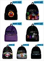 Wholesale kids book printing resale online - Among Us Schoolbag Student Book Bag Cartoon D Print Backpack Teens Kid Bags Hot Game Among of Us School Bag Chirismas Gift Boom2016