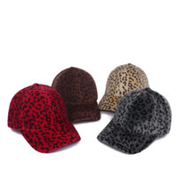 Leopard Baseball Caps Winter Fashion Leopard Mink Snapbacks Caps Outdoor Sport Baseball Hat Party Hats Supplies RRA3780