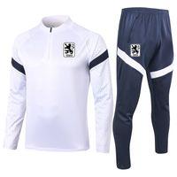 2020 2021 1860 Munchen soccer Tracksuit Sets adult soccer jogging jacket pants Survetement winter football training suit Running Sets