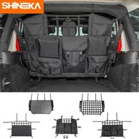 Wholesale car trunk net resale online - SHINEKA Stowing Tidying For Wrangler JK JL Car Trunk Pet Isolation Net Storage Bag For Wrangler Accessories