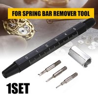 Wholesale inch scale resale online - Spring Remover Strap Replacement Tool Professional Handle Black For Pins Scale In Wrist Band Bar Shellhard Link Opener With sqcWDJ