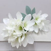 Wholesale freesia resale online - Fashion simulation flower decoration wedding fresh and simple freesia simulation flower