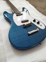 Wholesale custom guitar reissue resale online - Custom Ventures Johnny Ramone Mosrite Reissue Mark Ii Metallic Blue Electric Guitar Zero Fret Single Coil Pickups Grover Tuners
