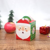 Wholesale christmas wrap paper for sale - Group buy Christmas Eve Gift Boxes Xmas Candy Box Santa Claus Paper Gift Boxes Case Design Printed Packing Box Party Activity Decorations HHA2088