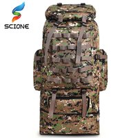 Wholesale military water backpack for sale - Group buy 100L Large Capacity Outdoor Tactical Backpack Mountaineering Camping Hiking Military Molle Water repellent Tactical Bag C1008