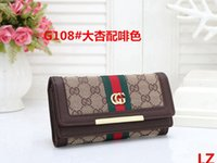 Wholesale wallet clamp resale online - 2021 New Tote Wallet High Quality Leather Luxury Men Short Wallets For Women Men Coin Purse Clutch Clamp Bags VRUZ