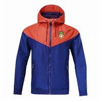 2020 2021 wrexham adult hooded windbreaker jacket winter windproof zipper Quick Dry hoodies sportswear soccer jacket Running Jackets