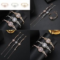 Wholesale Alloy Fashion Jewelry Charm Women Bangle Bracelet Bracelets Gift Crystal M773f Christmas Colors Wedding Rhinestone yxlna xjfshop