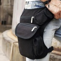 Wholesale canvas drop leg fanny pack resale online - Men Canvas Drop Leg Bag Waist Fanny Pack Belt Military Travel Motorcycle Multi purpose Messenger Shoulder Bags