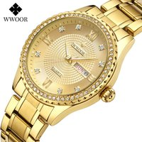 Wholesale dial buttons resale online - New Wwoor Lovers Golden WristWatch Dial MM Waterproof30M Luminous Watch Butterfly Button up Finished Steel Watchband Man Diamond Watch