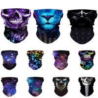 Wholesale skeleton bandana resale online - Skull Bandana Motorcycle Face Mask for Men Women Skeleton Half Scarf Sun UV Dust Protection Breathable Scarf Neck Gaiter BWD1303