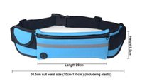 Wholesale water pouch for running resale online - Outdoor Sport GYM Waist Belt Phone Pouch Waterproof Running Bag Wallet Phone Case for Iphone
