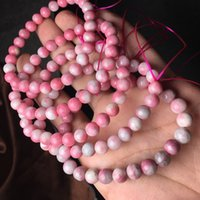Wholesale peach rose charms for sale - Group buy of5ff Natural rose blossom single Circle Bracelet flourishing Plum Peach splendor color bracelet peach Blossom Wangfu stone marriage string w
