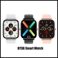 Wholesale android p8 phone for sale - Group buy 2020 New Arrivals DT36 Smartwatch inch Amoled Screen Tracker Fitness Sport women P8 Support Bluetooth Call Android IOS Sport Fitness