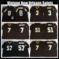 Wholesale archie manning jerseys for sale - Group buy Vintage Archie Manning Football Jersey Bobby Hebert Morten Andersen Sam Mills Rickey Jackson New embroidery