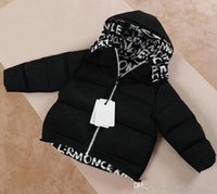 Wholesale AA077 Luxury Baby Boys Down Jacket Baby Boys Hooded Coat Children Clothing Warm Thick Jackets Baby Girls Boys Clothes Double sided Outerwear