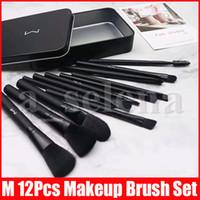 M Makeup 12 PCS Brushes Set Foundation Blending Powder Eyeshadow Contour Concealer Blush Cosmetic Makeup Tool