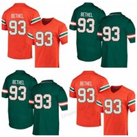 Wholesale pats jerseys resale online - Cheap Custom miam Hurricanes Pat Bethel College Football Jersey Men s Stitched Any Size XS XL Name Or Number jersey Top Quality