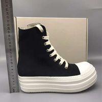 Black Women Thick Sole Shoes Breathable Platform Fashion Sneakers Autumn High Top Womens Shoes Canvas 20#25 20D50