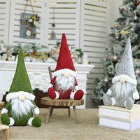 Wholesale doll window resale online - Faceless Old Man Window Decoration Christmas Decoration Nordic Style Decorative Doll Handmade Santa Cloth Doll EWE2433