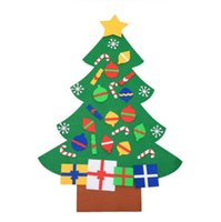 Wholesale christmas tree stores for sale - Group buy Hot Felt Cloth Children DIY Gift Home Store Bar Club Christmas Tree Decorations Mix Order